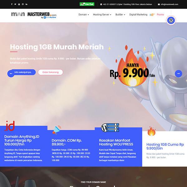 Fakta Hosting - Homepage Masterweb
